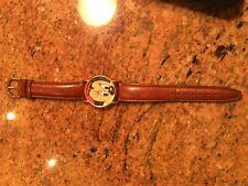 New listing Disney Time Works Vintage Minnie Mouse Watch Leather Strap