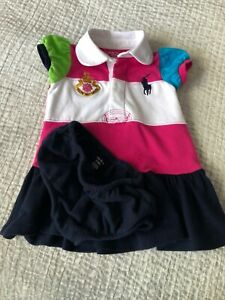 RALPH LAUREN BABY GIRL DRESS AND PANTS 6 MONTHS NEW WITHOUT TAGS