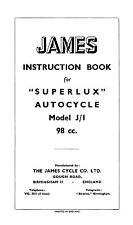 (0635) 1948-1954 James Superlux autocycle instruction book