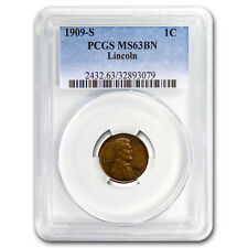 1909-S Lincoln Cent MS-63 PCGS (Brown) - SKU#95991