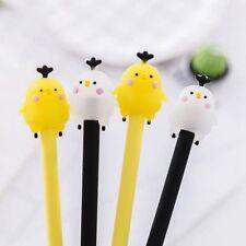 2PC Cute Cartoon Chick Gel Pen Stationery School Materials Animal Funny Chicken
