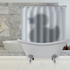 3D Duck Shadow Waterproof Polyester 12 Hooks Shower Curtain Bathroom Decor