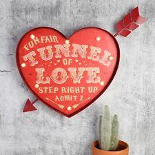 Túnel del amor en forma de corazón Luz Led De Metal Carnaval signo Circo Retro Feria