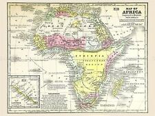 MAP REPRO ANTIQUE MITCHELL AFRICA CONTINENT LARGE ART PRINT LF902