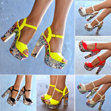 Synthetic Leather Casual Floral Heels for Women