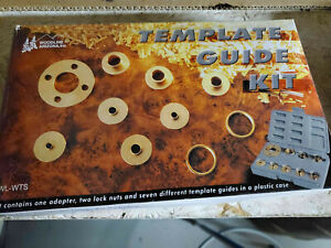 Router Template Guide Set; 12 Piece set Solid Brass with Carrying Case