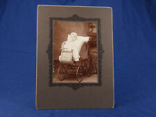 DARLING Antique Photo Baby Infant Wicker Carriage Buggy Stroller Perambulator