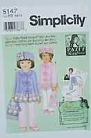 New Simplicity Sewing Pattern 5147 Girl Coat Hat Purse Size 5-8 Patty Reed