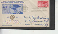 FDC #985 GRAND ARMY REPUBLIC UNKNOWN CACHET MAKER MULTI-ASPECTS OFFICIAL COVER