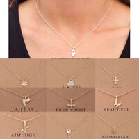 Women Necklace Pendant Gold Clavicle Chains Choker Card Jewelry Gift
