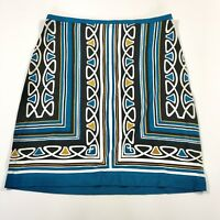 Ann Taylor Loft Women's Pencil Skirt Black Blue Mini Stretchy Size 4