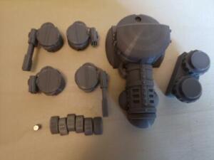 Ork /  Orx Dragster with 2 turrets 28mm 3d printed warpath Grimdark wargaming