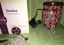 Scentsy BANDANA OLD STYLE Red Full Size 25 Watt Warmer RETIRED RARE NEW