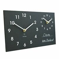 Ashortwalk Time Zone Clock - displays 2 different times on 1 face, wall mounted