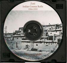 Zuni Indian Census Rolls 1904-1935