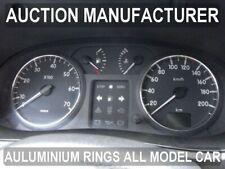 Renault Kangoo I  2003-2008 Polished Aluminium Trim Rings Instrument Cluster x2