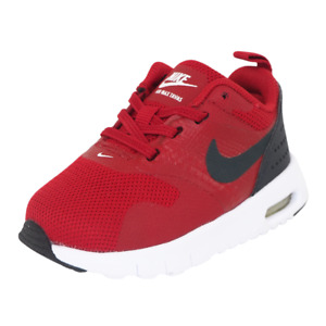 Nike Air Max Tavas Toddlers Shoes Black Red White Mesh 844106 600 Sneakers SZ 4C