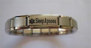 Italian Charms Sleep Apnoea Medical Alert Bracelet