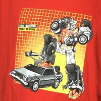 Back to the Future T Shirt XL Time Traveller Marty McPrime  Mashup Transformers
