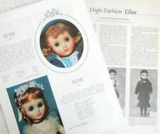 10p Color Identification & Article - VTG Mme Alexander Elise Brides & Ballerinas