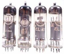 4x EL41 = 6CK5 = BF61 = N150 = CV3889 Valvo Rimlock Röhre tube tested #7952