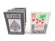 Lot of 5 Maverick Playing Cards USA  Travel Games Poker Solitaire