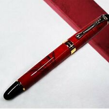 Jinhao X450 Fountain Pen Marble Pattern Gold Trim M Nib Coral Red