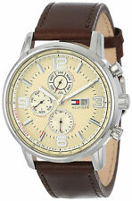 Tommy Hilfiger Reloj Silver Plata Crystal Leather Man Hombre Watch Hand Band Arm