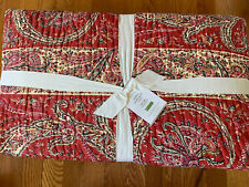 Nwt Pottery Barn Sweeney Paisley Quilt, Full Queen Red Fall/Christmas New