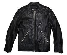Diesel L-marton Leather Jacket Size M 100 Authentic