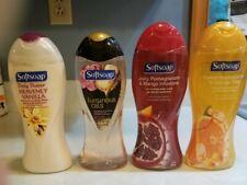 Lot of 4 SoftSoap Body Washes-Vanila, Oils, Honeysuckle Orange, & Pomegran Mango