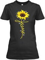 On trend Sunflower Christian Cross Faith Jesus Gildan Gildan Women's Tee T-Shirt