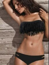 BLACK FRINGE BIKINI / BATHERS / SWIMWEAR: SIZE LARGE (SUIT 10-12), NEW