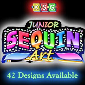 KSG Sequin Art & Junior Sequin Art Kits - Full Range of 42 Designs Now Available
