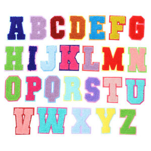 Letter Alphabet Patches Towel Embroidered Patch Sew on Clothes Crafts Shirt Bag
