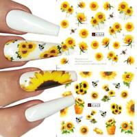 1X Sunflower Daisy Flowers Leaf Forget Me Not Rose Violet 3D Nail Stickers 2021
