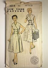 New ListingVintage 1950s~New York Sewing Pattern~ #1614 Women's Dresses~ Size 14-32