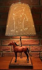 MODEL HORSE LAMP with Breyer & Stunning Cut/Punched/Sculptured Shade - STYLE #1