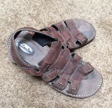Clarks Mens Sandals Fisherman Size 13 Brown Straps Leather Mid Ankle#33644