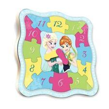 Disney Puzzle bois Horloge la Reine des Neiges 12 Pièces 18 mois