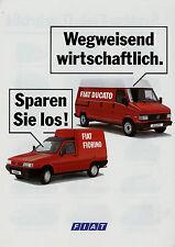 Prospetto FIAT FIORINO DUCATO 9/91 brochure opuscolo 1991 AUTO AUTO CAMION prospetto