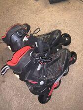 Rollerblade Mens Size 9 M Zetrablade Black Red