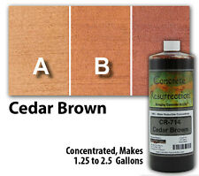 Professional Easy To Apply Water Based Concrete Stain Cedar Brown