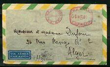BRAZIL RIO DE JANEIRO 8/30/1947 AIRMAIL COVER TO ALGERIA VIA LISBON 9/3/47 SHOWN