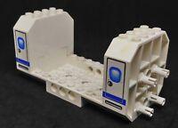 Lego Vehicle Aircraft Fuselage 6x12x5, Blue Stripe Print [42605pb02] - White x1
