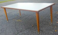 Mid Century Modern Cocktail Coffee Table Walnut Formica