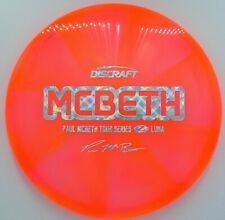 New Discraft Tour Series Paul Mcbeth Z Luna *Orange Translucent* 173-174g