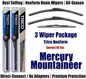 3pk Wipers Front & Rear - NeoForm - 1997-2001 Mercury Mountaineer 16180x2/30130