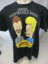 Beavis & Butthead XL black  Shirt Moustaches Rule! MTV