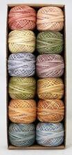 Valdani Perle Cotton Muddy Monet Size 12 Embroidery Thread Sampler